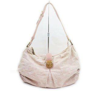Louis Vuitton Slightly PM Pink Denim Hobo Bag